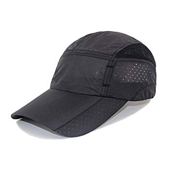 LETHMIK Sport Cap Summer Quick-drying Sun Hat Unisex UV Protection Outdoor Cap Black