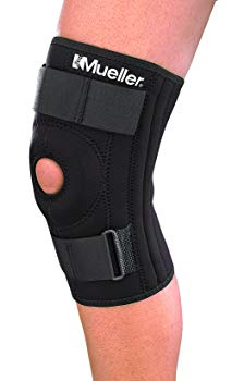 Mueller Patella Stabilizer Knee Brace, Medium, Black, 1-Count Package