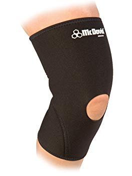 McDavid Neoprene Knee Sleeve with Open Patella (Black, Medium)