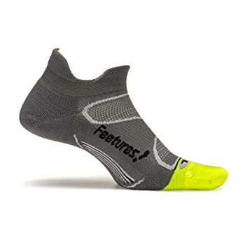 Feetures! - Elite Light Cushion - No Show Tab - Graphite/Black - Size Small - Athletic Running Socks