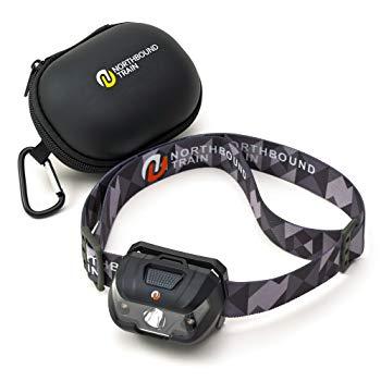 BEST 150 Lumen Waterproof LED Headlamp Flashlight with Hard Case