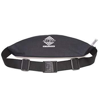 Aqua Quest Kona Running Belt - Water Resistant Zipper Pouch